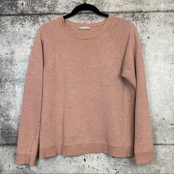 Zara // Blush Pink Crewneck Sweatshirt